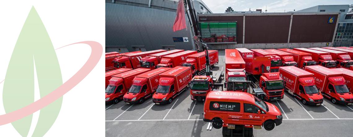 Fornitore di logistica finlandese converte l'intera flotta di veicoli a biogas