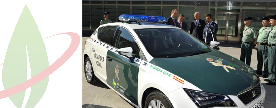 La Guardia Civile spagnola presenta il primo veicolo alimentato a gas naturale