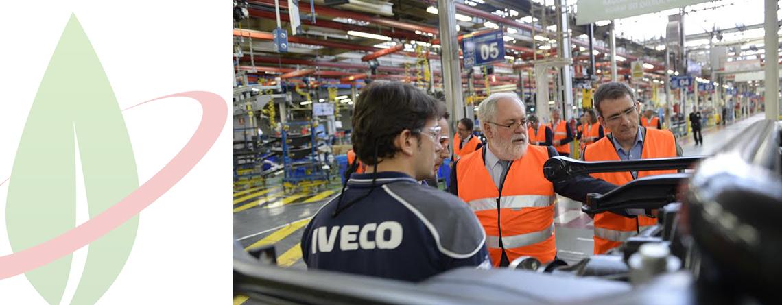 Lo stabilimento CNH Industrial di Madrid apre le porte a Miguel Arias Cañete,  Commissario europeo per l'Azione per il clima e l'energia