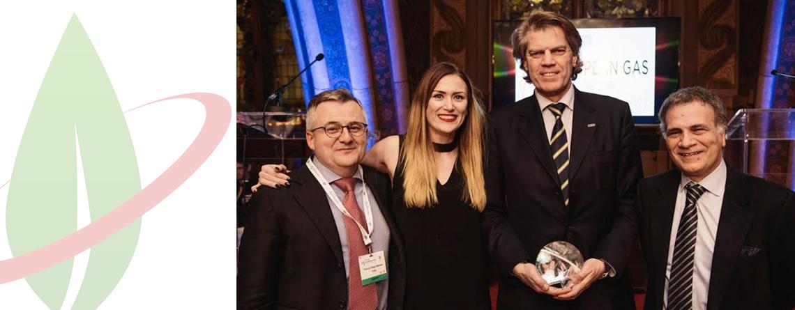 """IVECO Stralis NP, il primo tir alimentato a gas naturale per lunghe percorrenze, eletto """"Progetto dell'anno"""" in occasione dell'European Gas Awards Excellence 2017"""