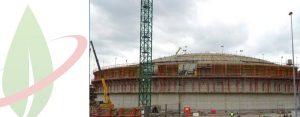 In costruzione il serbatoio GNL di Fluxys a Zeebrugge