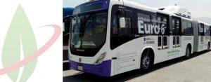 Il primo autobus a gas naturale articolato del Messico testato a Monterrey