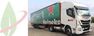 Heineken distribuisce birra con i camion Iveco a gas naturale in Portogallo