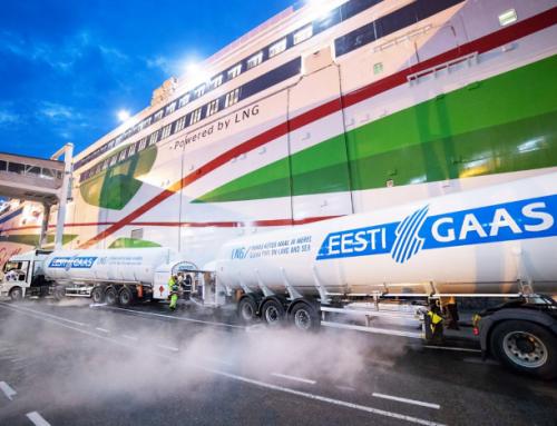 Il fornitore di gas estone effettua 1.500 operazioni di bunkeraggio del GNL a Tallinn