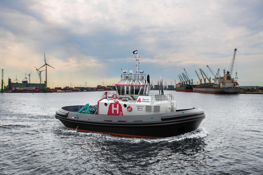 Il primo rimorchiatore al mondo alimentato a idrogeno opererà nel porto di Anversa