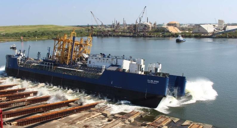 Lanciata la prima chiatta ATB per bunkeraggio GNL offshore battente bandiera USA