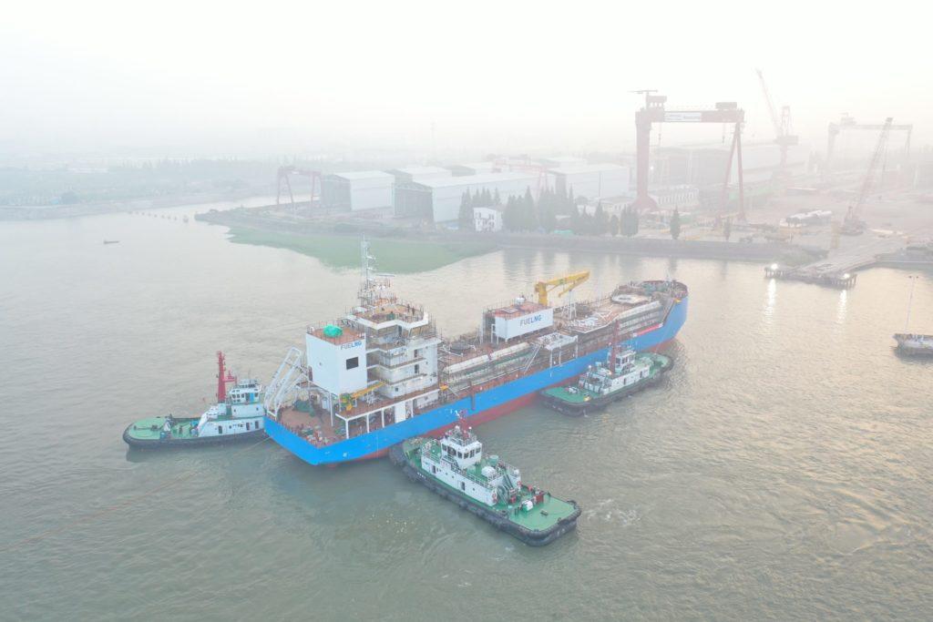 Pronta la prima nave per il rifornimento di GNL a Singapore